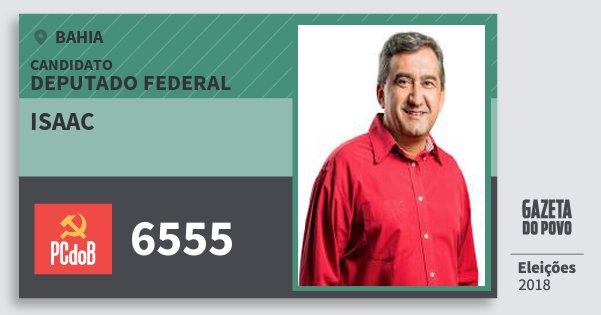 Santinho Isaac 6555 (PC do B) Deputado Federal   Bahia   Eleições 2018