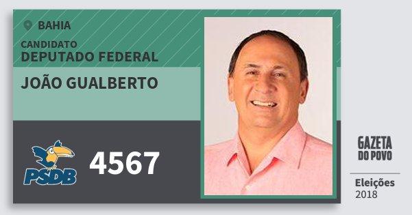 Santinho João Gualberto 4567 (PSDB) Deputado Federal | Bahia | Eleições 2018