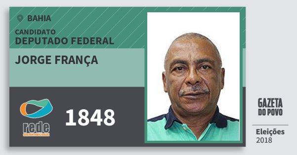 Santinho Jorge França 1848 (REDE) Deputado Federal | Bahia | Eleições 2018