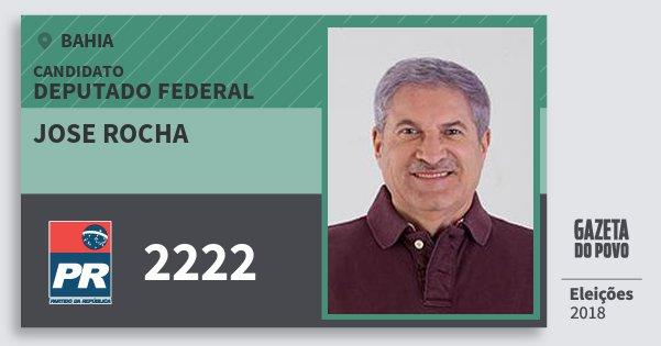 Santinho Jose Rocha 2222 (PR) Deputado Federal | Bahia | Eleições 2018