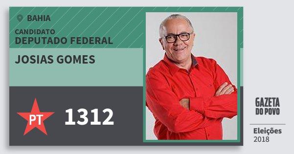 Santinho Josias Gomes 1312 (PT) Deputado Federal | Bahia | Eleições 2018