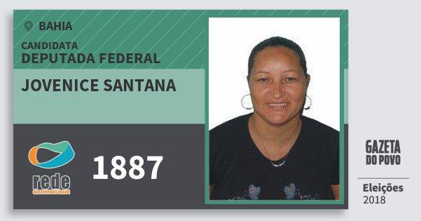 Santinho Jovenice Santana 1887 (REDE) Deputada Federal | Bahia | Eleições 2018