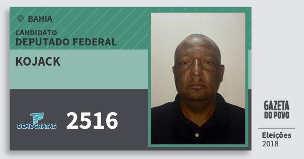 Santinho Kojack 2516 (DEM) Deputado Federal | Bahia | Eleições 2018
