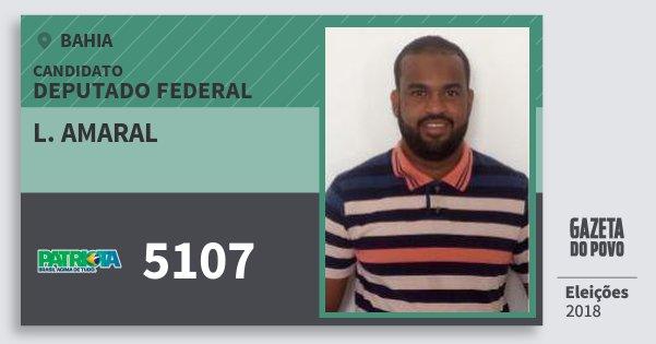 Santinho L. Amaral 5107 (PATRI) Deputado Federal | Bahia | Eleições 2018