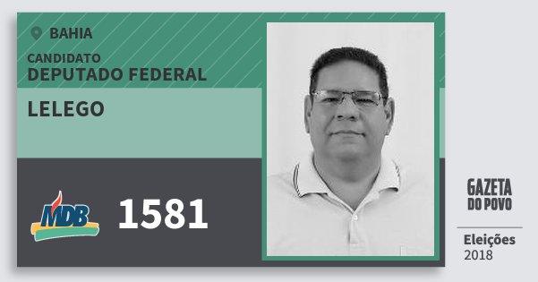 Santinho Lelego 1581 (MDB) Deputado Federal | Bahia | Eleições 2018