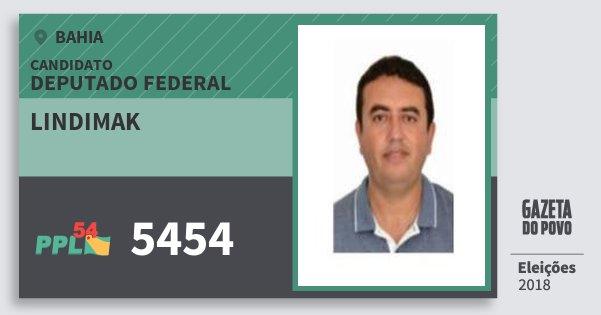Santinho Lindimak 5454 (PPL) Deputado Federal | Bahia | Eleições 2018