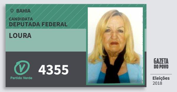 Santinho Loura 4355 (PV) Deputada Federal | Bahia | Eleições 2018