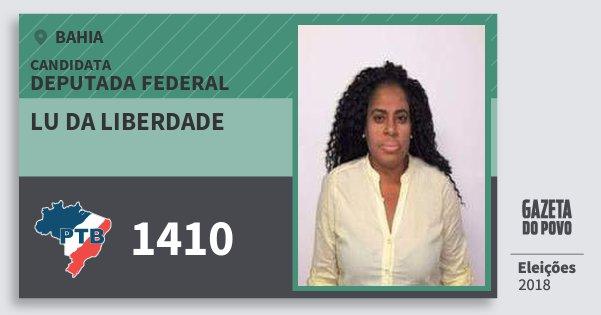 Santinho Lu da Liberdade 1410 (PTB) Deputada Federal   Bahia   Eleições 2018
