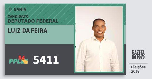 Santinho Luiz da Feira 5411 (PPL) Deputado Federal | Bahia | Eleições 2018