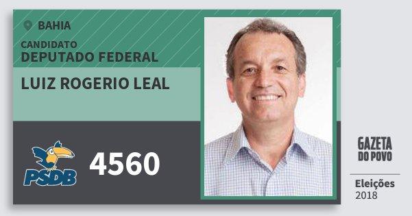 Santinho Luiz Rogerio Leal 4560 (PSDB) Deputado Federal | Bahia | Eleições 2018