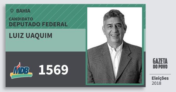 Santinho Luiz Uaquim 1569 (MDB) Deputado Federal | Bahia | Eleições 2018