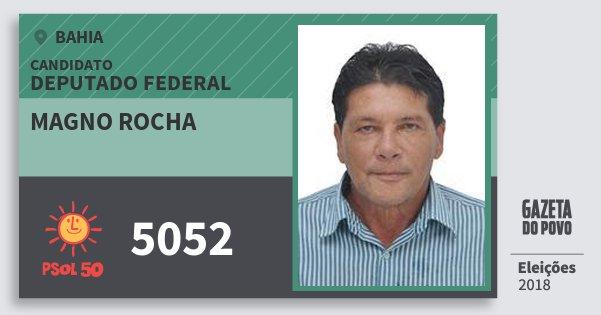 Santinho Magno Rocha 5052 (PSOL) Deputado Federal | Bahia | Eleições 2018