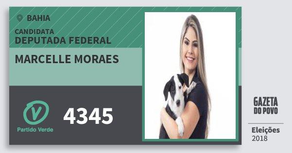 Santinho Marcelle Moraes 4345 (PV) Deputada Federal | Bahia | Eleições 2018