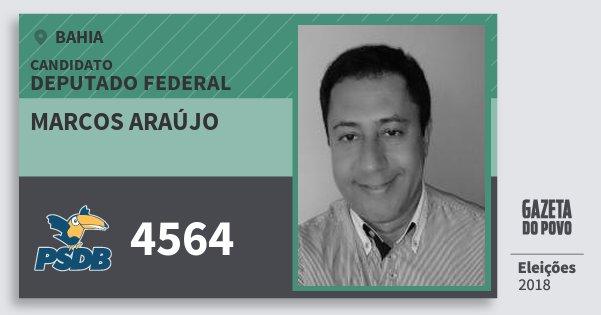 Santinho Marcos Araújo 4564 (PSDB) Deputado Federal | Bahia | Eleições 2018
