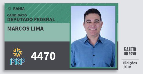 Santinho Marcos Lima 4470 (PRP) Deputado Federal | Bahia | Eleições 2018