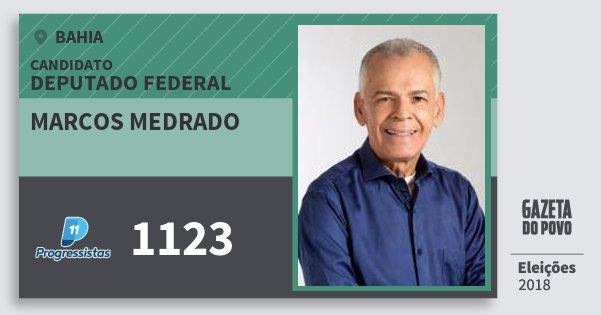 Santinho Marcos Medrado 1123 (PP) Deputado Federal | Bahia | Eleições 2018
