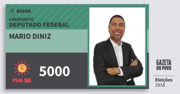 Santinho Mario Diniz 5000 (PSOL) Deputado Federal | Bahia | Eleições 2018