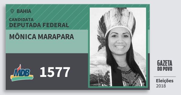 Santinho Mônica Marapara 1577 (MDB) Deputada Federal | Bahia | Eleições 2018