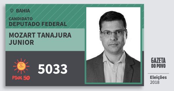 Santinho Mozart Tanajura Junior 5033 (PSOL) Deputado Federal | Bahia | Eleições 2018