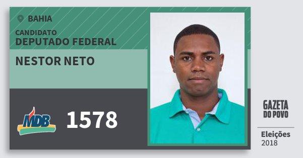 Santinho Nestor Neto 1578 (MDB) Deputado Federal | Bahia | Eleições 2018