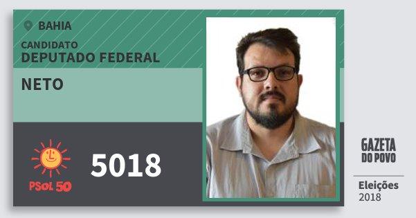 Santinho Neto 5018 (PSOL) Deputado Federal   Bahia   Eleições 2018