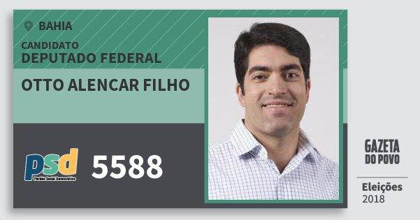 Santinho Otto Alencar Filho 5588 (PSD) Deputado Federal | Bahia | Eleições 2018