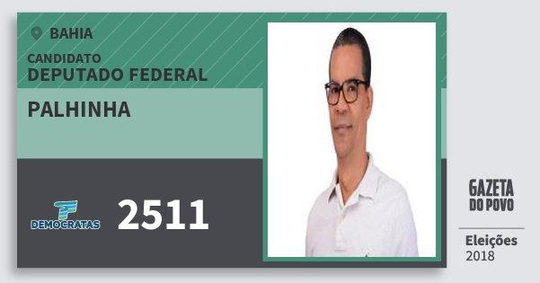 Santinho Palhinha 2511 (DEM) Deputado Federal | Bahia | Eleições 2018