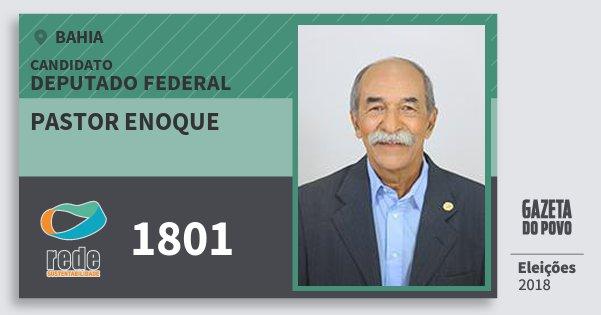 Santinho Pastor Enoque 1801 (REDE) Deputado Federal | Bahia | Eleições 2018