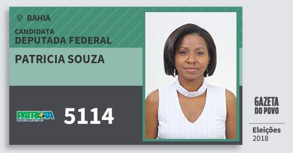 Santinho Patricia Souza 5114 (PATRI) Deputada Federal | Bahia | Eleições 2018