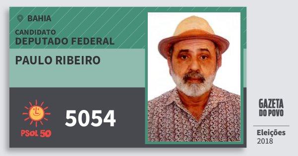Santinho Paulo Ribeiro 5054 (PSOL) Deputado Federal | Bahia | Eleições 2018