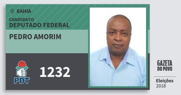 Santinho Pedro Amorim 1232 (PDT) Deputado Federal | Bahia | Eleições 2018