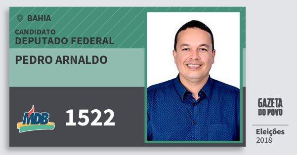 Santinho Pedro Arnaldo 1522 (MDB) Deputado Federal | Bahia | Eleições 2018