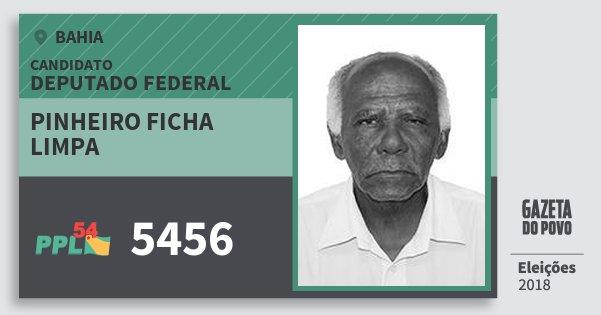 Santinho Pinheiro Ficha Limpa 5456 (PPL) Deputado Federal | Bahia | Eleições 2018