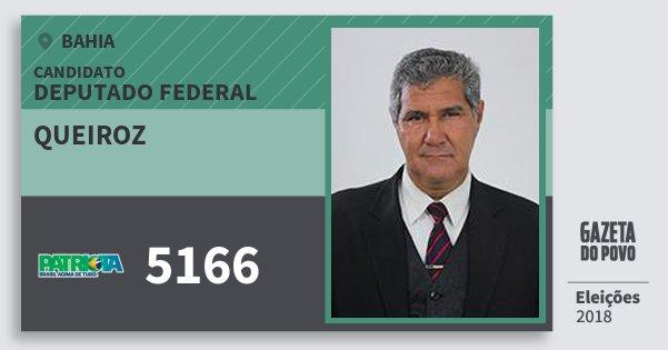 Santinho Queiroz 5166 (PATRI) Deputado Federal | Bahia | Eleições 2018
