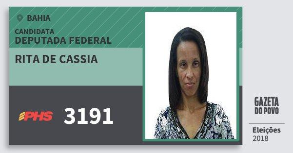 Santinho Rita de Cassia 3191 (PHS) Deputada Federal | Bahia | Eleições 2018