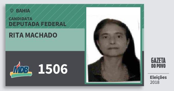 Santinho Rita Machado 1506 (MDB) Deputada Federal | Bahia | Eleições 2018