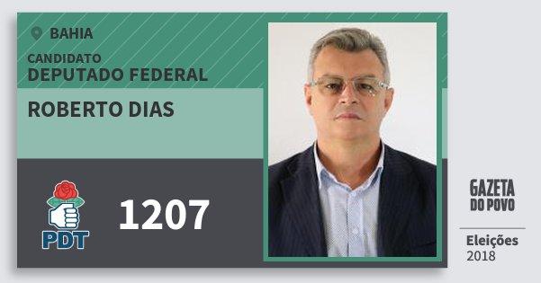 Santinho Roberto Dias 1207 (PDT) Deputado Federal | Bahia | Eleições 2018