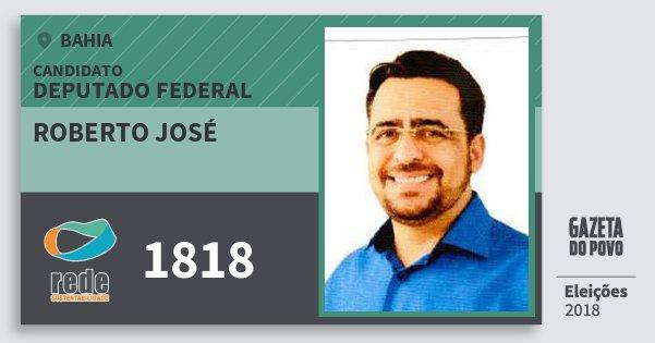 Santinho Roberto José 1818 (REDE) Deputado Federal | Bahia | Eleições 2018