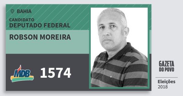 Santinho Robson Moreira 1574 (MDB) Deputado Federal | Bahia | Eleições 2018