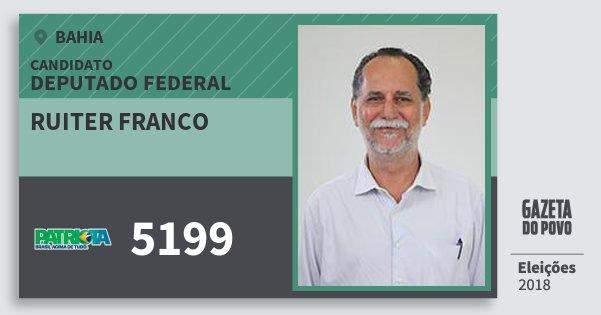 Santinho Ruiter Franco 5199 (PATRI) Deputado Federal | Bahia | Eleições 2018