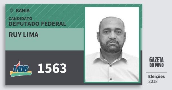 Santinho Ruy Lima 1563 (MDB) Deputado Federal | Bahia | Eleições 2018