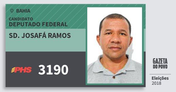 Santinho Sd. Josafá Ramos 3190 (PHS) Deputado Federal | Bahia | Eleições 2018