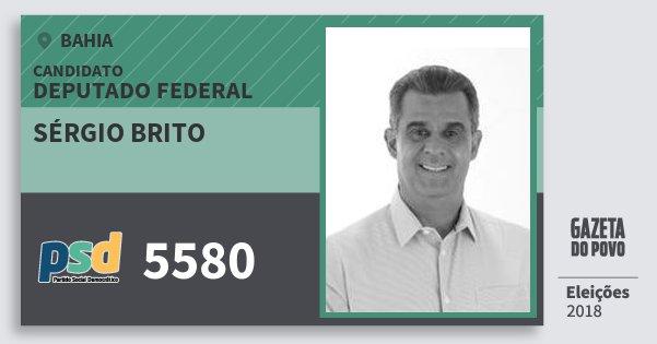 Santinho Sérgio Brito 5580 (PSD) Deputado Federal | Bahia | Eleições 2018