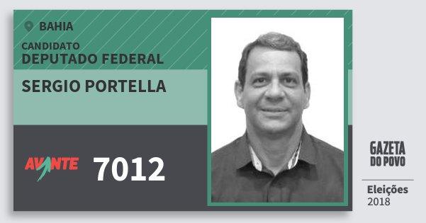 Santinho Sergio Portella 7012 (AVANTE) Deputado Federal | Bahia | Eleições 2018
