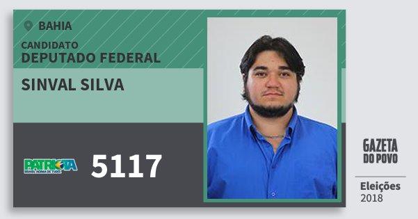 Santinho Sinval Silva 5117 (PATRI) Deputado Federal | Bahia | Eleições 2018
