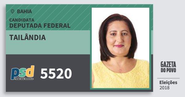 Santinho Tailândia 5520 (PSD) Deputada Federal | Bahia | Eleições 2018
