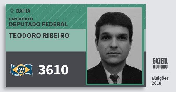 Santinho Teodoro Ribeiro 3610 (PTC) Deputado Federal | Bahia | Eleições 2018