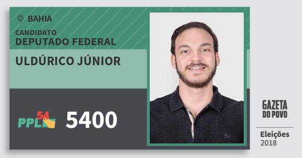 Santinho Uldúrico Júnior 5400 (PPL) Deputado Federal | Bahia | Eleições 2018