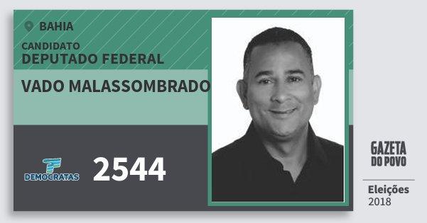 Santinho Vado Malassombrado 2544 (DEM) Deputado Federal | Bahia | Eleições 2018