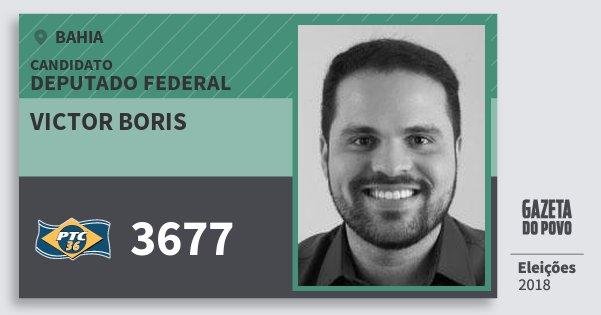 Santinho Victor Boris 3677 (PTC) Deputado Federal | Bahia | Eleições 2018